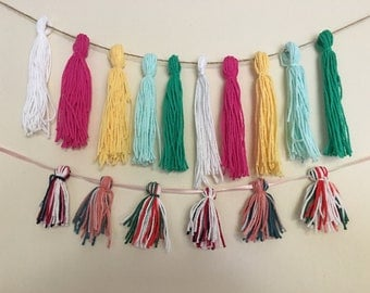 yarn tassle garland