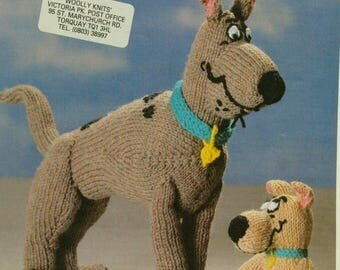 Vintage 1985 Wendy Scooby Doo and Scrappy Doo Toys Knitting patterns 2741