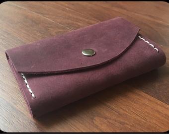 Leather Key bag Dark purple