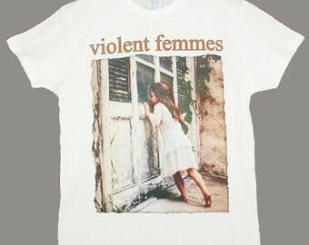 Violent Femmes, White T-shirt (XS,S,M,L,XL.XXL European Sizes)