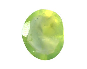 Prehnite Natural Green Prehnite Both side Faceted Polki 4.75 cts. 12x14.5 mm 1 piece Loose Gemstone 4080