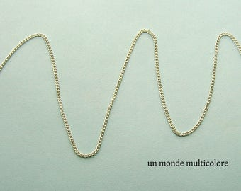 Silver chain link 2.5 x 2 mm