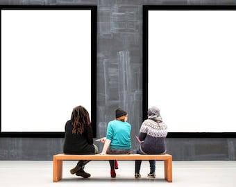 wall display mockup mock up gallery huge big photo photography template blank frame empty frames backdrop - Empty Frames