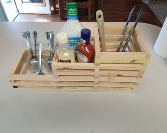 Salad Bar Condiment and Utensil Caddy