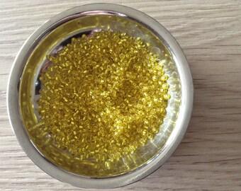 Beads Miyuki rocailles 11/0 Silverlined yellow x 4 grams
