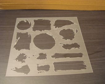 P0147 stencil for your pages, cards, your walls