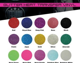 "12 inch x 7.5"" - 15 Sheets of Premium Glitter Heat Transfer Vinyl"