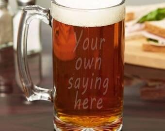 Custom Your Own Beer Stein - custom saying beer stein, custom artwork beer stein.