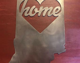 Indiana Heart Home Sign