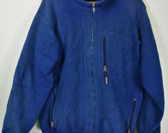 Patagonia Flece Jacket Zip Up Blue
