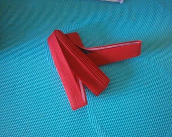 bias plain double fold red by the yard, 20 mm