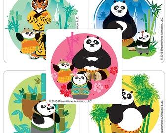 "25 Kung Fu Panda 3 Stickers, 2.5"" x 2.5"" Each"