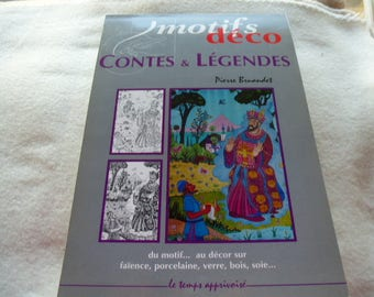 Book notebook for coloring patterns deco tales & legends painting or coloring published by the time Apprivoise