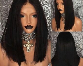 Asymmetrical Bob Lace Front Wig