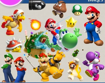 90 SUPER MARIO clipart png Images, Digital Cliparts, Graphic, Stickers, Decals, Png file Format, Transparent Backgrounds