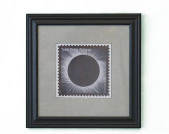 Framed Photo Of Total Solar Eclipse Stamp