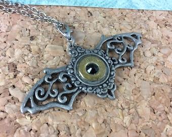 Bullet Bat Charm Necklace