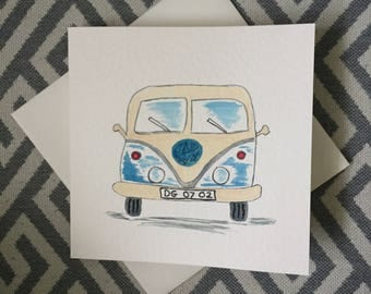 Personalised VW Camper Van Birthday Card