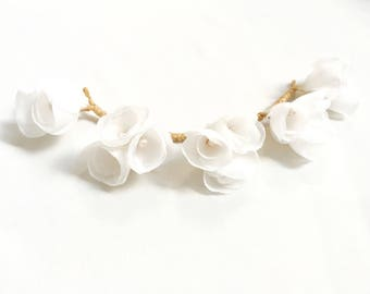 Flower Crown for bride - hair and tiara for wedding hair accessory