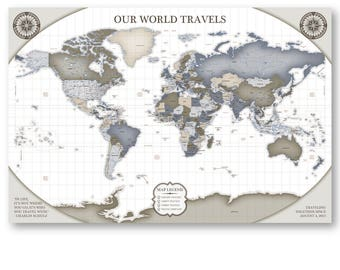 A gpop navigating the handmade world by gpopart on etsy travel items canvas map decor canvas map art small map canvas small map art wall decor gumiabroncs Gallery
