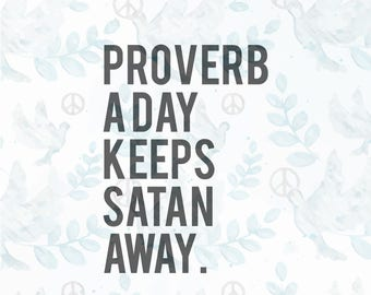 Proverb a day SVG file  Jesus svg  faith svg  christian svg  religious svg   faith clipart bible svg bible verse cricut file tshirt svg