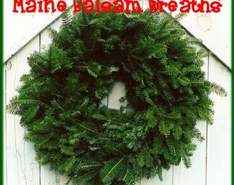 Plain Fresh Maine Balsam Fir Plain Wreath 22""