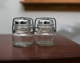 Glass 1893 FP Salt & Pepper Shakers