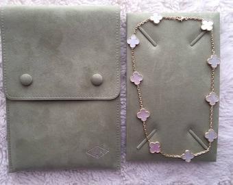 Van Cleef Vintage Alhambra 10-motif 18k mother of pearl necklace