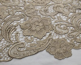 Anastasia TAUPE Guipure Lace Fabric by the Yard - Style 1004