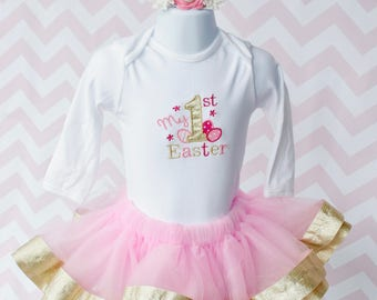 First Easter Outfit, 1st Easter, Easter Tutu, Easter Top, Easter Shirt, Easter Headband
