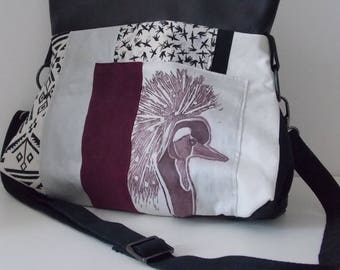 Shoulder bag with printing