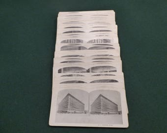 Complete 50 card set of Vintage Stereoviews of Eaton Department Store in Winnipeg -
