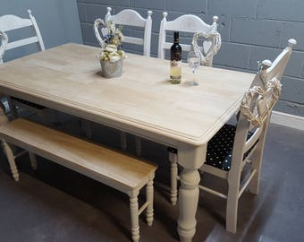 Bespoke 6ft x 3ft Table & Bench or Chair Set