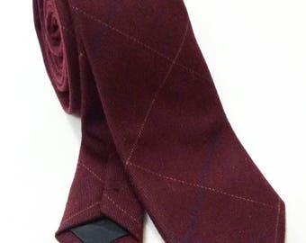 Burgundy wine red skinny ties,skinny tie,dapper skinny ties,groomsmen tie,floral ties, wedding ties,wool ties,dapper tie,maroon tie,red tie