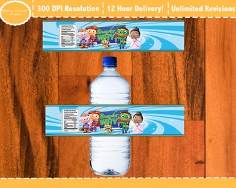 Super Why Water Bottle Labels (NEW)