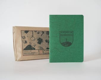 Travel journal - pocket notebook Flatcher | A6 | Specialpages | Field Notes journal | Soft cover notebooks | Adventure notes