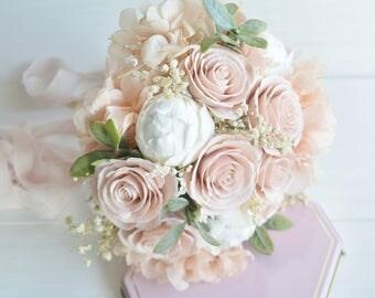 Wedding bouquet blush,Wedding bouquet,Bridal bouquet,Blush bouquet,Bride bouquet from clay,wedding accessory