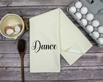 Kitchen Dish Towel - Tea Towel - Dance