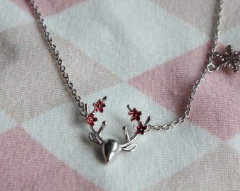 Deer Bambi Deer Necklace Sterling Silver Real Silver