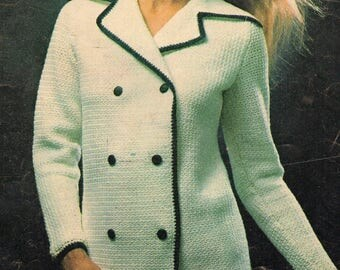 Women's Crochet Blazer, Crochet Pattern, Instant Download.