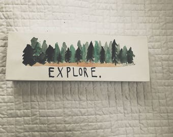 Explore Watercolor Canvas