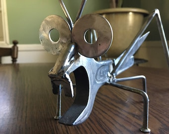 Cricket Steel Statue From Recycled Metal