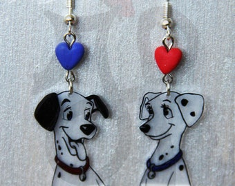Earrings with Dalmatians Pongo and Perdy
