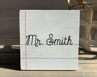 teacher gift-personalized teacher gift-teacher sign-personalized sign-class sign-personalized gift-graduation gift-teacher idea-classroom
