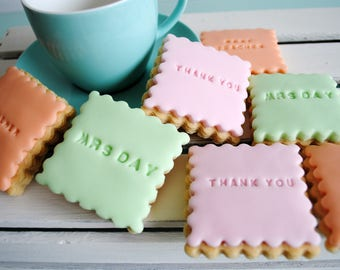 Personalised Biscuit Gift / Thank you / New Home / Congratulations / Iced Biscuits / Biscuit Gift / Gift for Her