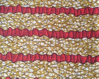 Red Ankara Fabric by the Yard, African fabric by the Yard Ankara Fabric by the Yard, Dashiki African Print Fabric Wax Print Fabric Cotton