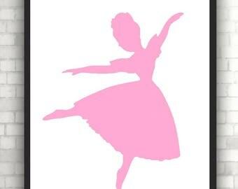 poster print ballerina for a girl's room