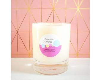 Black Cherry Soy Wax Natural Candle