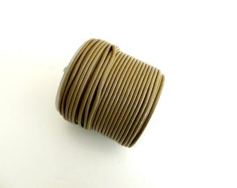 dangles 1.5 mm light brown colored leather cord