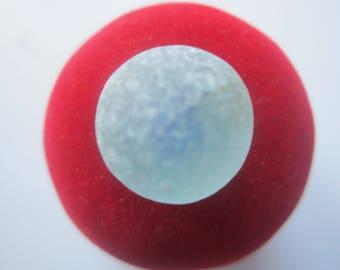 Sea Glass Marble-Italian marble-Jewelry glass spherical shape, Beach glass Licht blue/Art. V-34